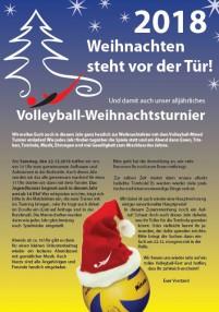 Doodle Weihnachtsfeier.Einladung Zum Weihnachtsturnier Und Zur Weihnachtsfeier Volleyball