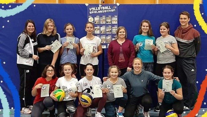 Volleyball Spielabzeichen Bronze & Silber